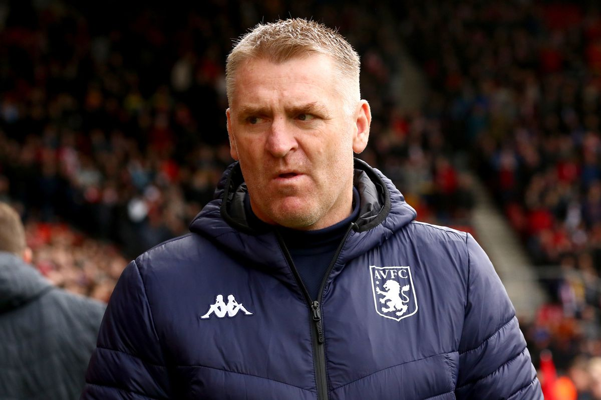Aston Villa manager Dean Smith prior to the beginning of the Premier League match at St Mary's Southampton (Mark Kerton/PA Wire)