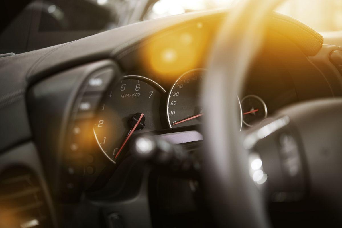 Vehicle Steering Wheel and Dashboard.