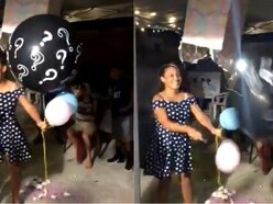 Watch the moment a baby's gender reveal went stratospherically wrong