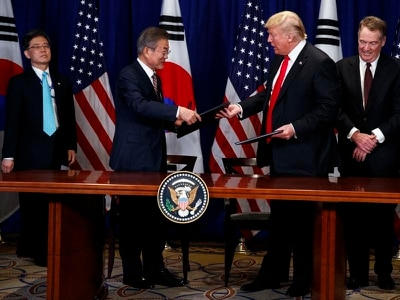 Donald Trump seals first major trade deal with South Korea