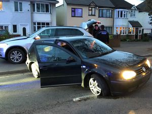 The car was halted by a stinger. Photo: CMPG