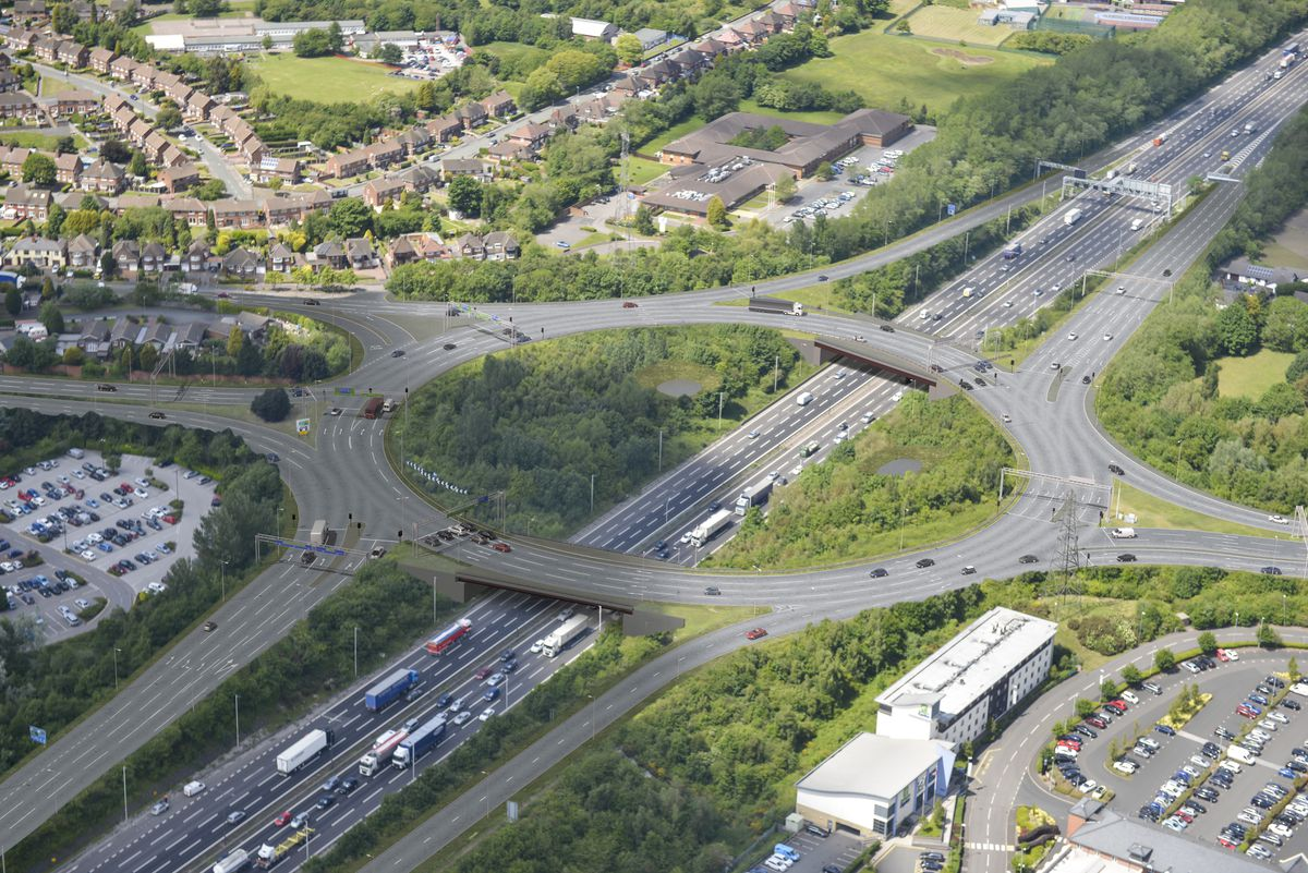 How J10 will look once work is complete. Photo: Highways England