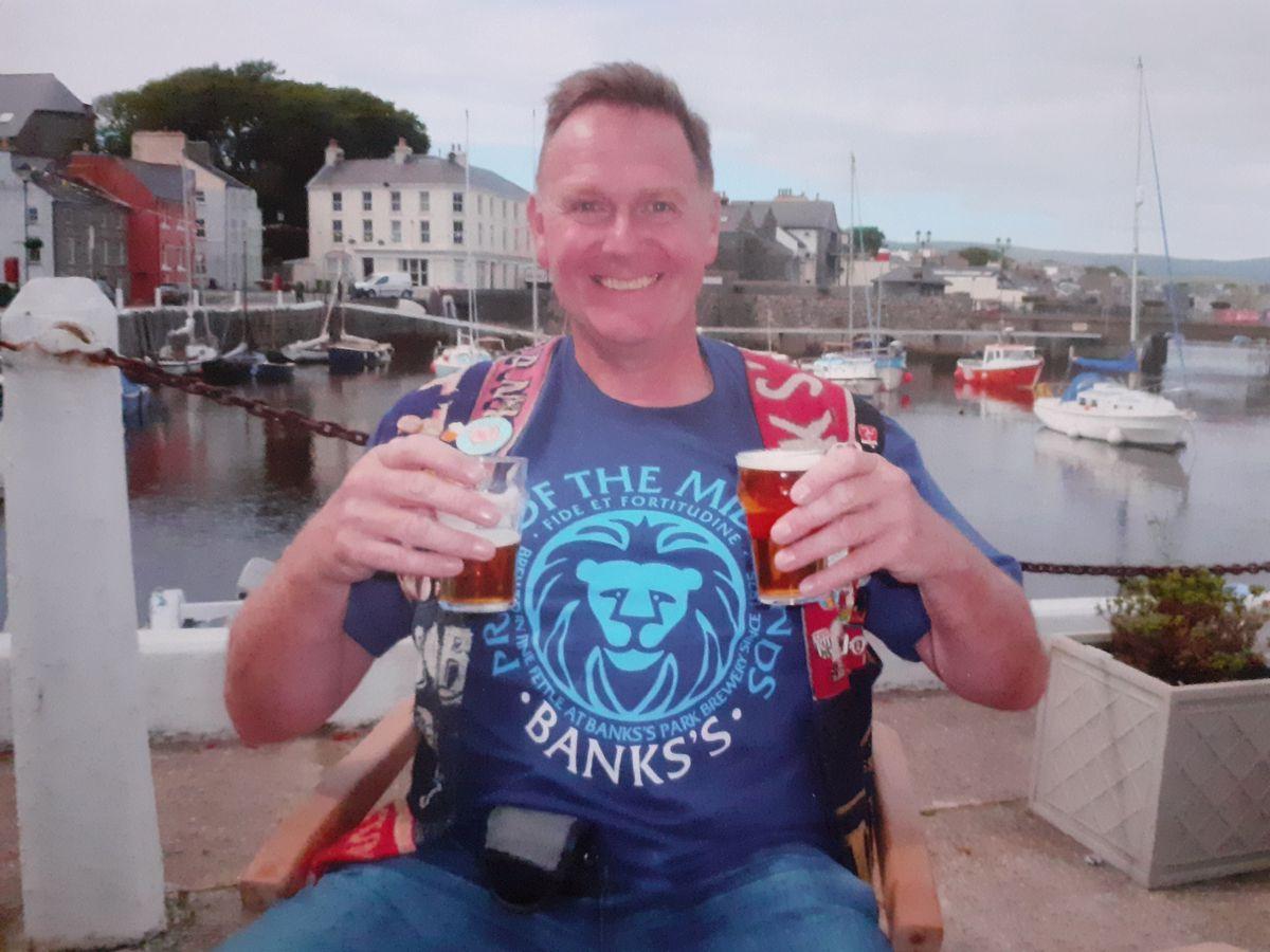 Pete outside The Castle Arms, Castletown, Isle of Mann