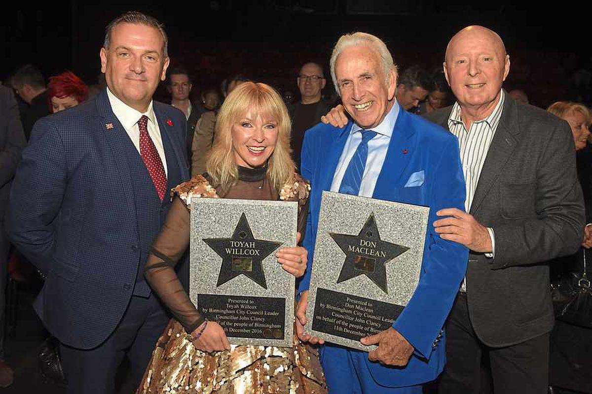 Toyah Willcox and Don Maclean honoured on Birmingham Walk Of Stars