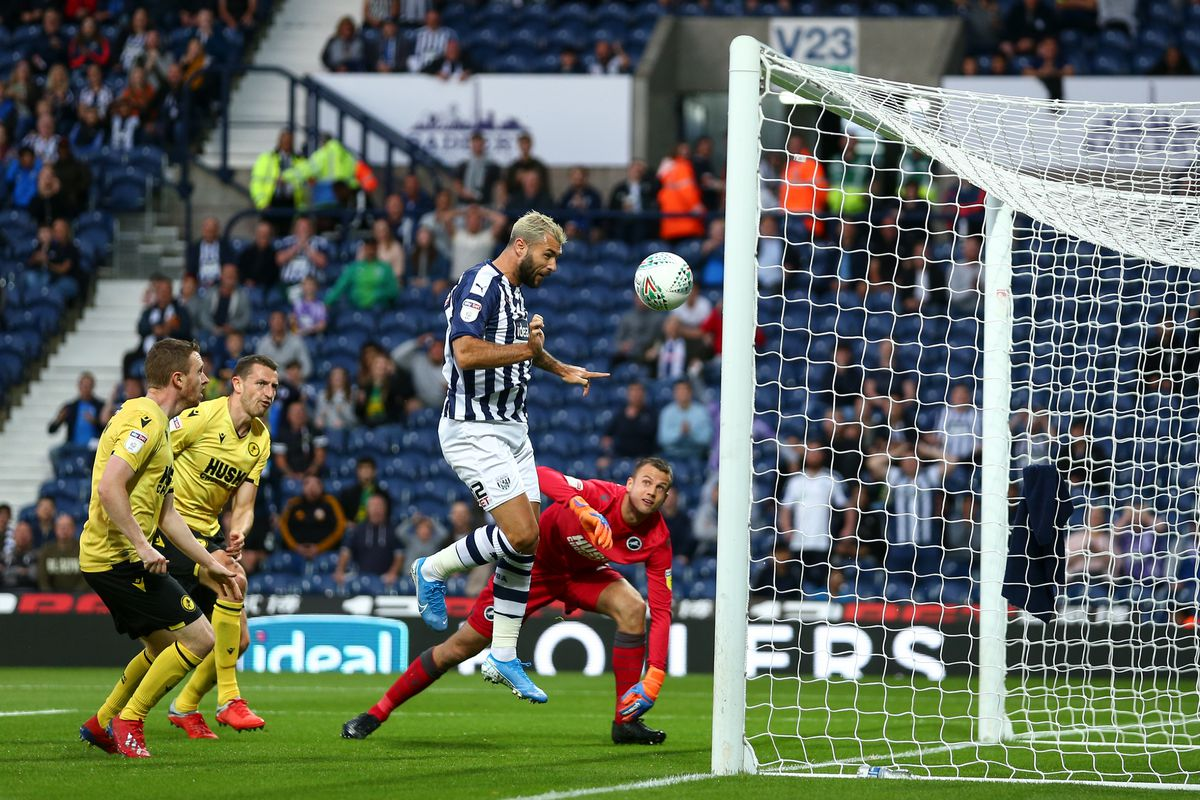 Charlie Austin of West Bromwich Albion scores a goal to make it 1-0. (AMA)