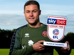 Walsall captain James Clarke wins goal of the month award