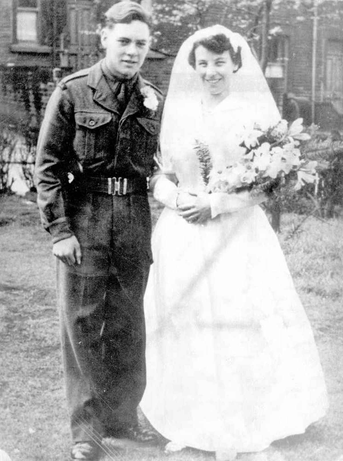 Neilson, aged 18 and called at that time Donald Nappey, at his wedding on April 30, 1955, at Morley. He later changed his name.
