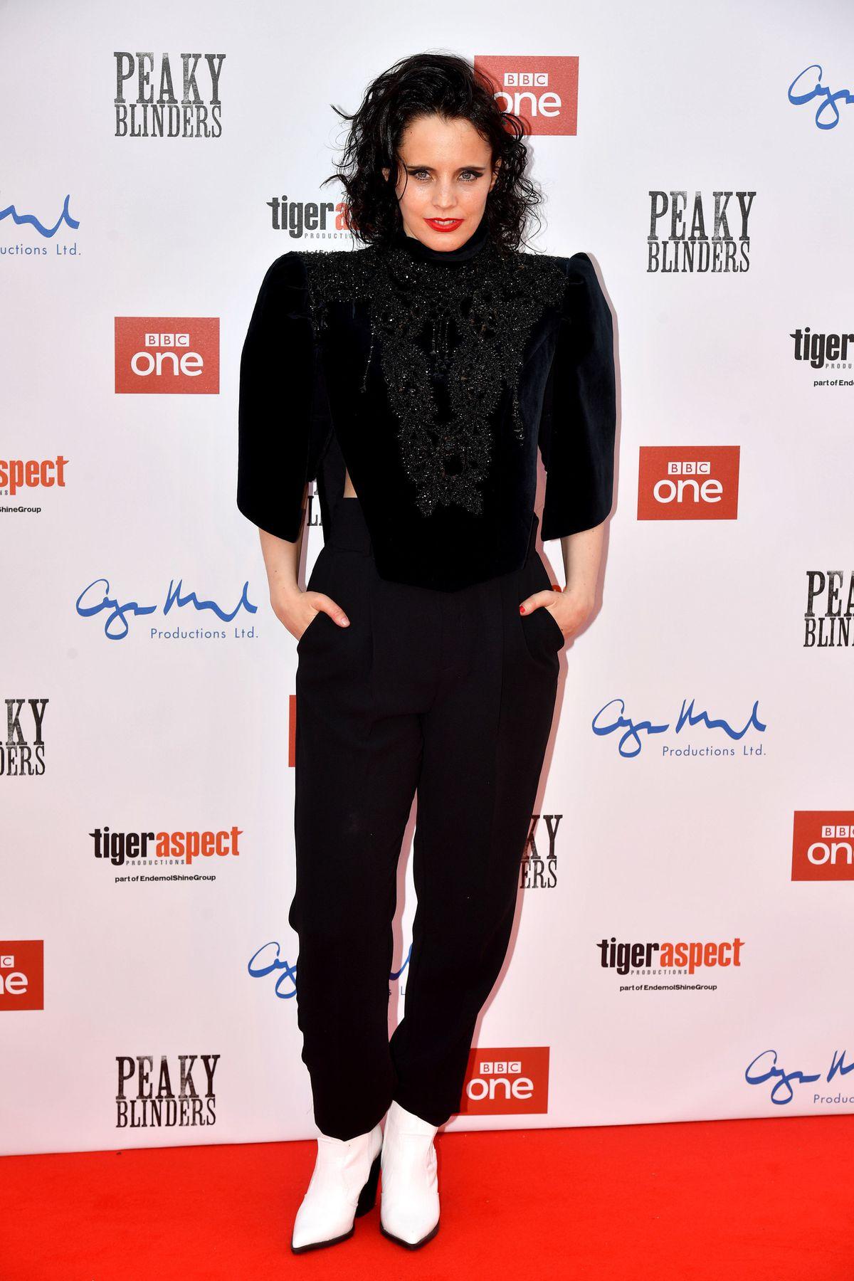 Anna Calvi attending the Peaky Blinders Series Five World Premiere held at Birmingham Town Hall