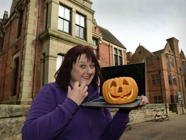 Jane Hanney-Martin, museum services manager, get ready for Halloween antics online at the Sandwell Museums