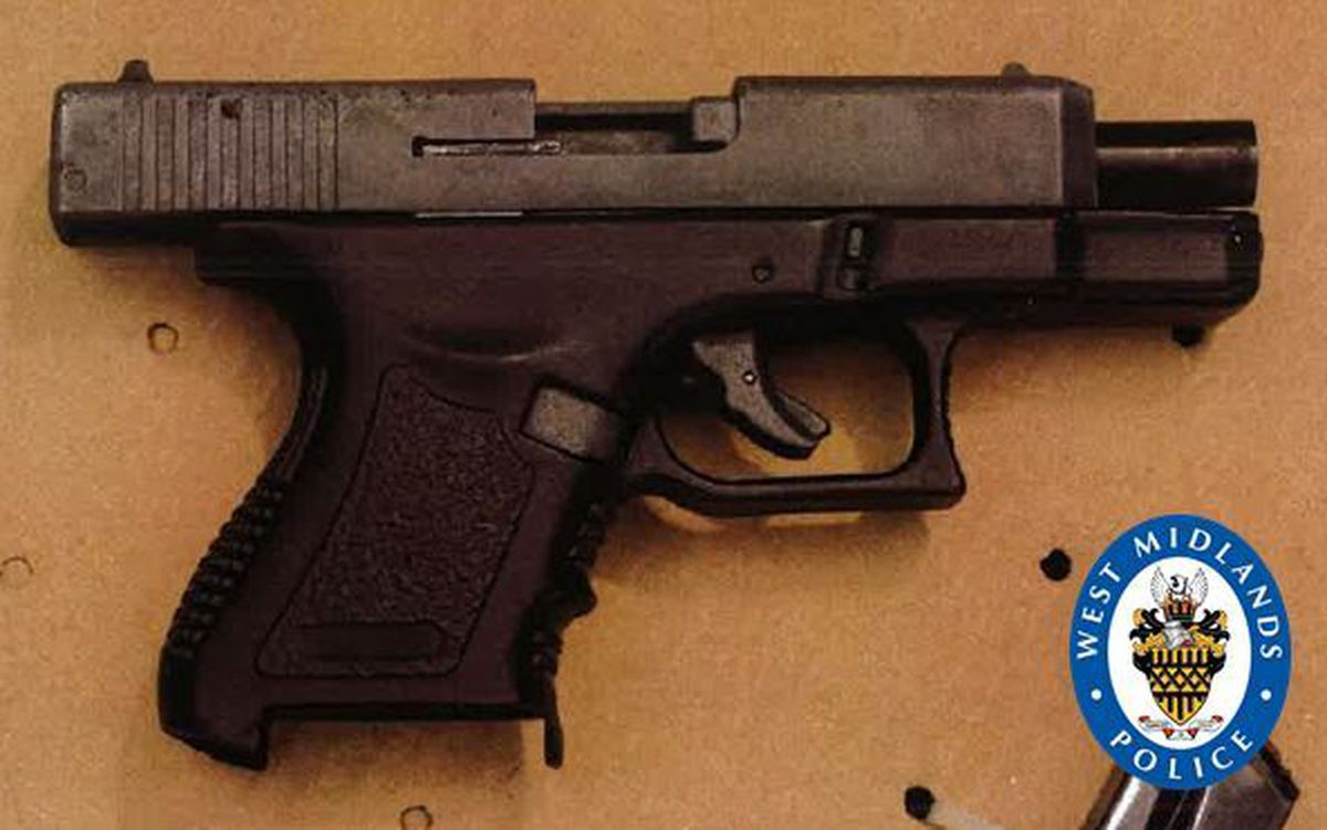 A Glock-style blank-firing pistol had been illegally modified to fire live rounds