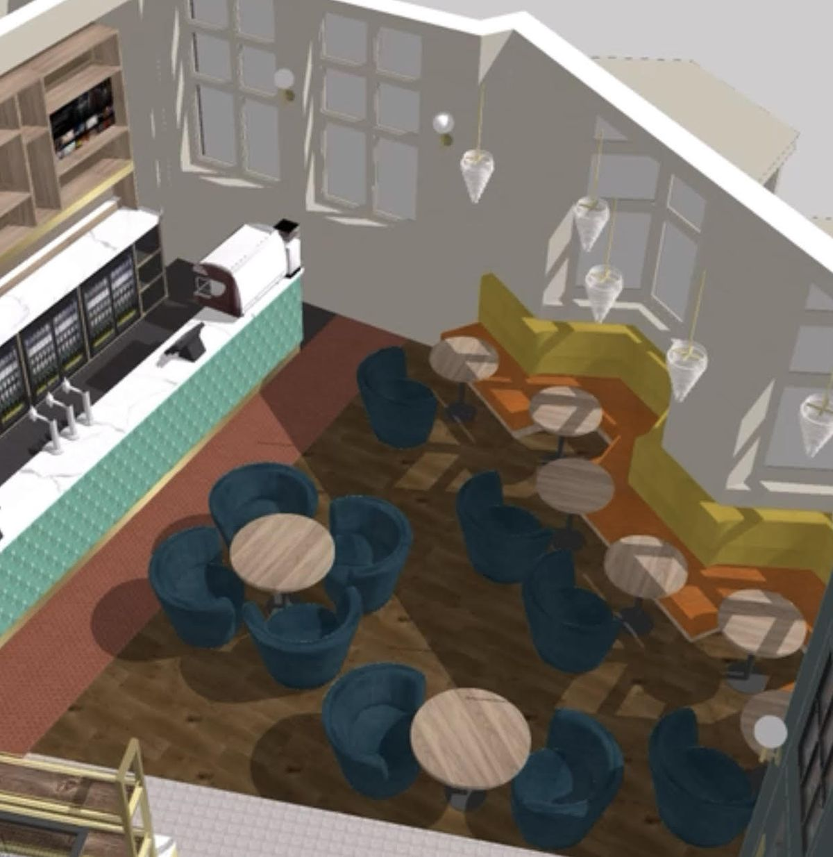 Artist impression of what the inside of the Soho Tavern in Walsall will look like. Photo: Soho Tavern Group