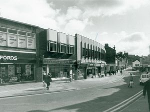 Worcester Street, Kidderminster, late 1980s.