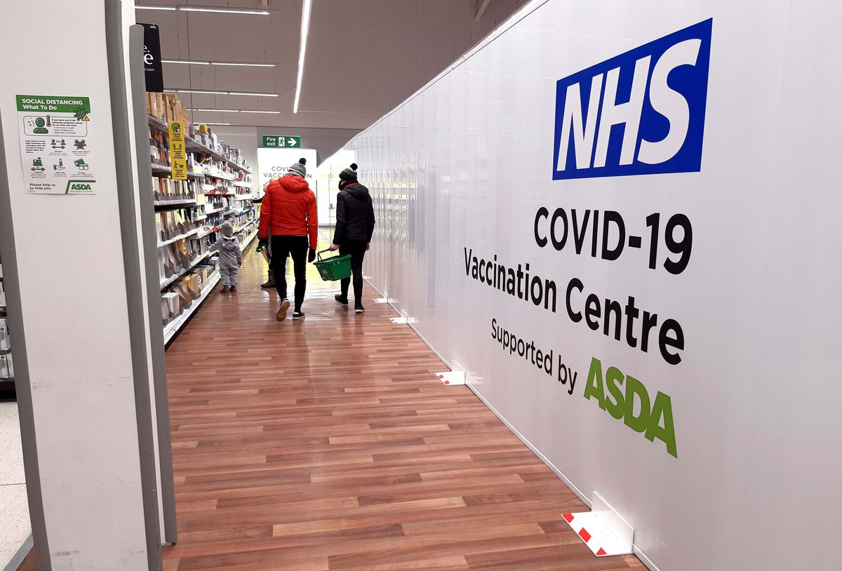 Cape Hill Asda, which has become a vaccination hub