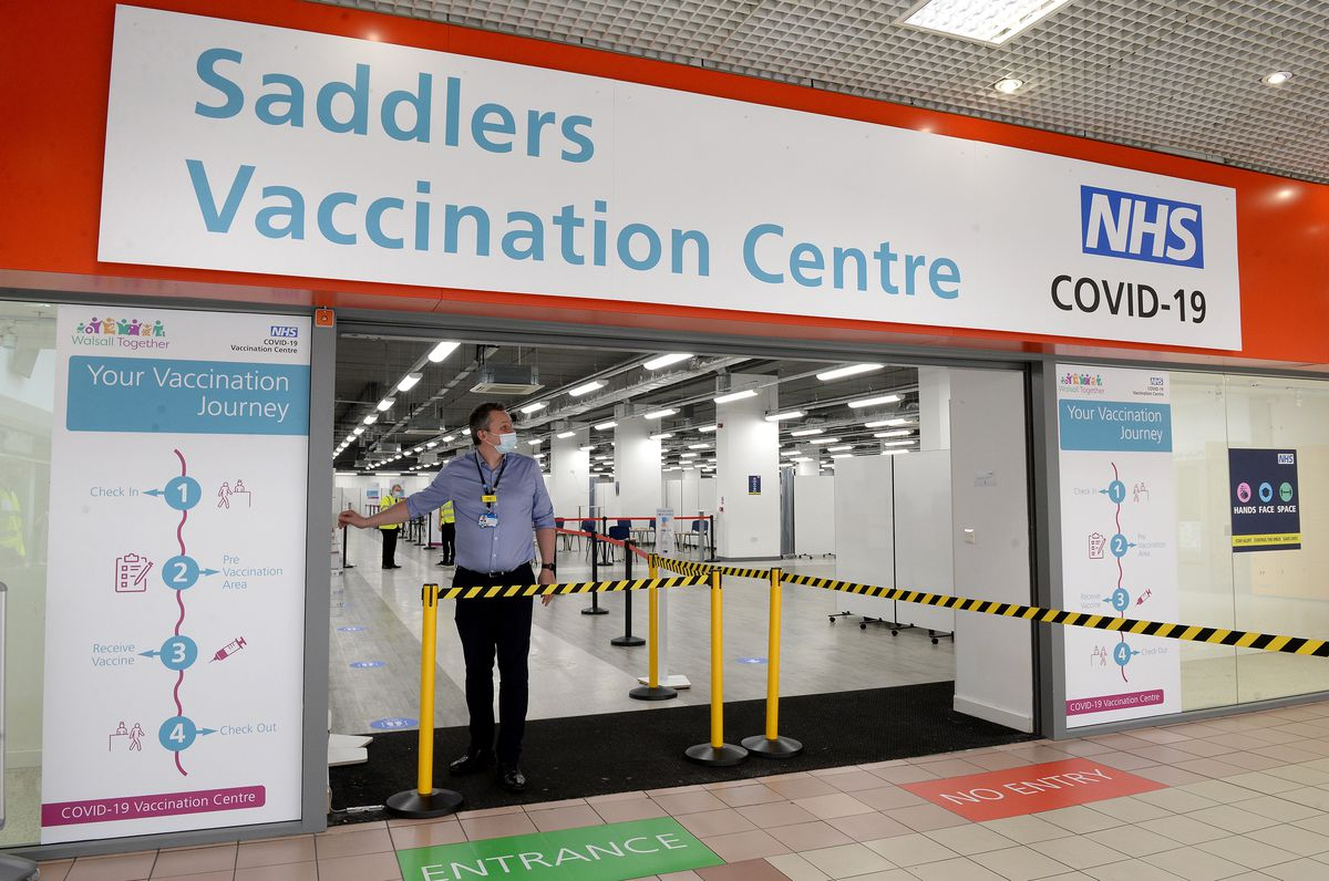 The old TJ Hughes store in the centre has recently been used for vaccination