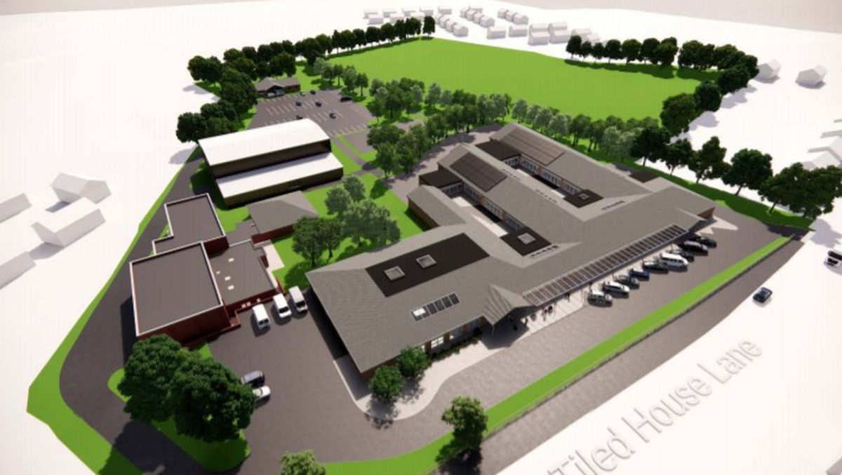 An artist's impression of the aerial view of the proposed school site