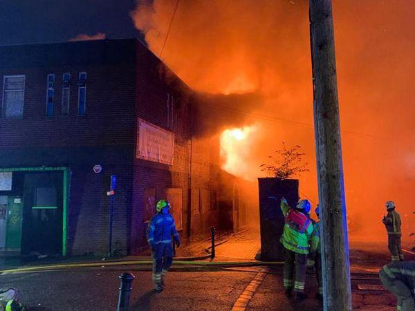 Fire in Upper Lichfield Street, Willenhall. Photo: West Midlands Fire Service