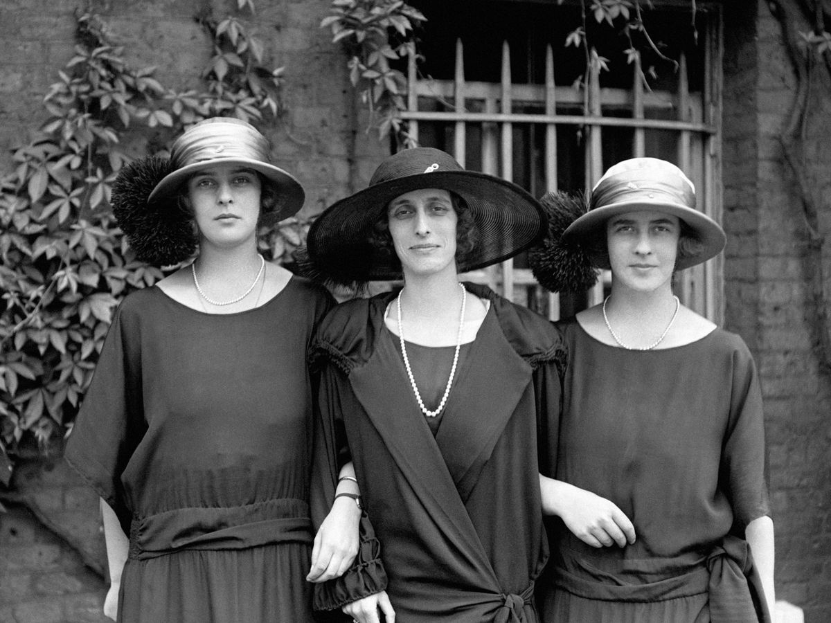 Lady Louise Mountbatten with Princess Theodora and Princess Margarita of Greece