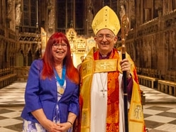 Church volunteer recognised for work by Bishop of Lichfield