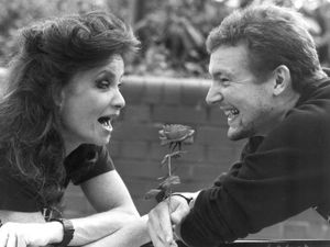 Leading lady Kate O'Mara with Blair Plant, from Kingswinford, making his professional acting debut