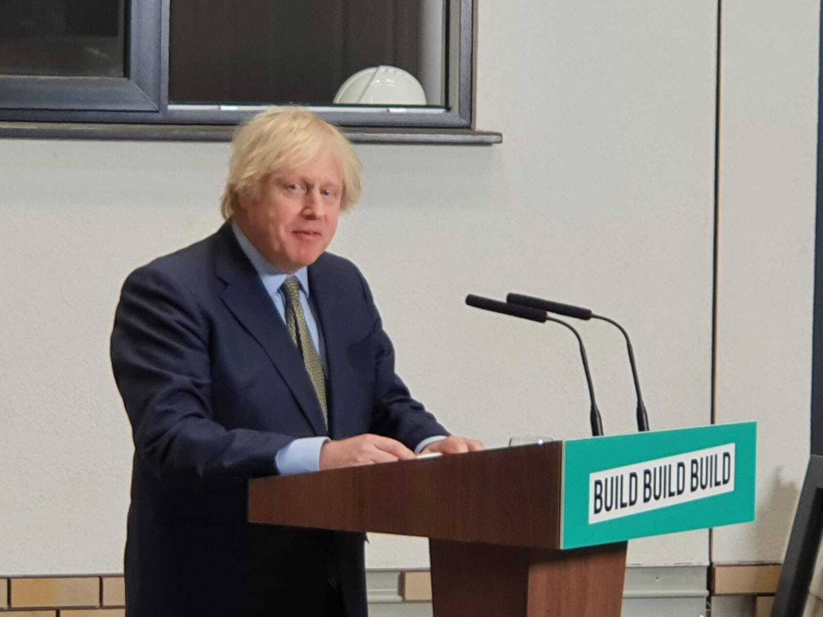 Boris Johnson speaking in Dudley