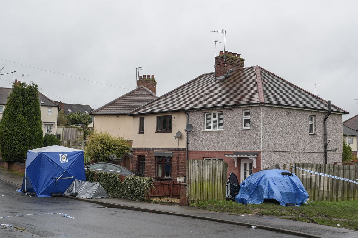 A police forensic tent and sheet on Wilson Road. Photo: SnapperSK