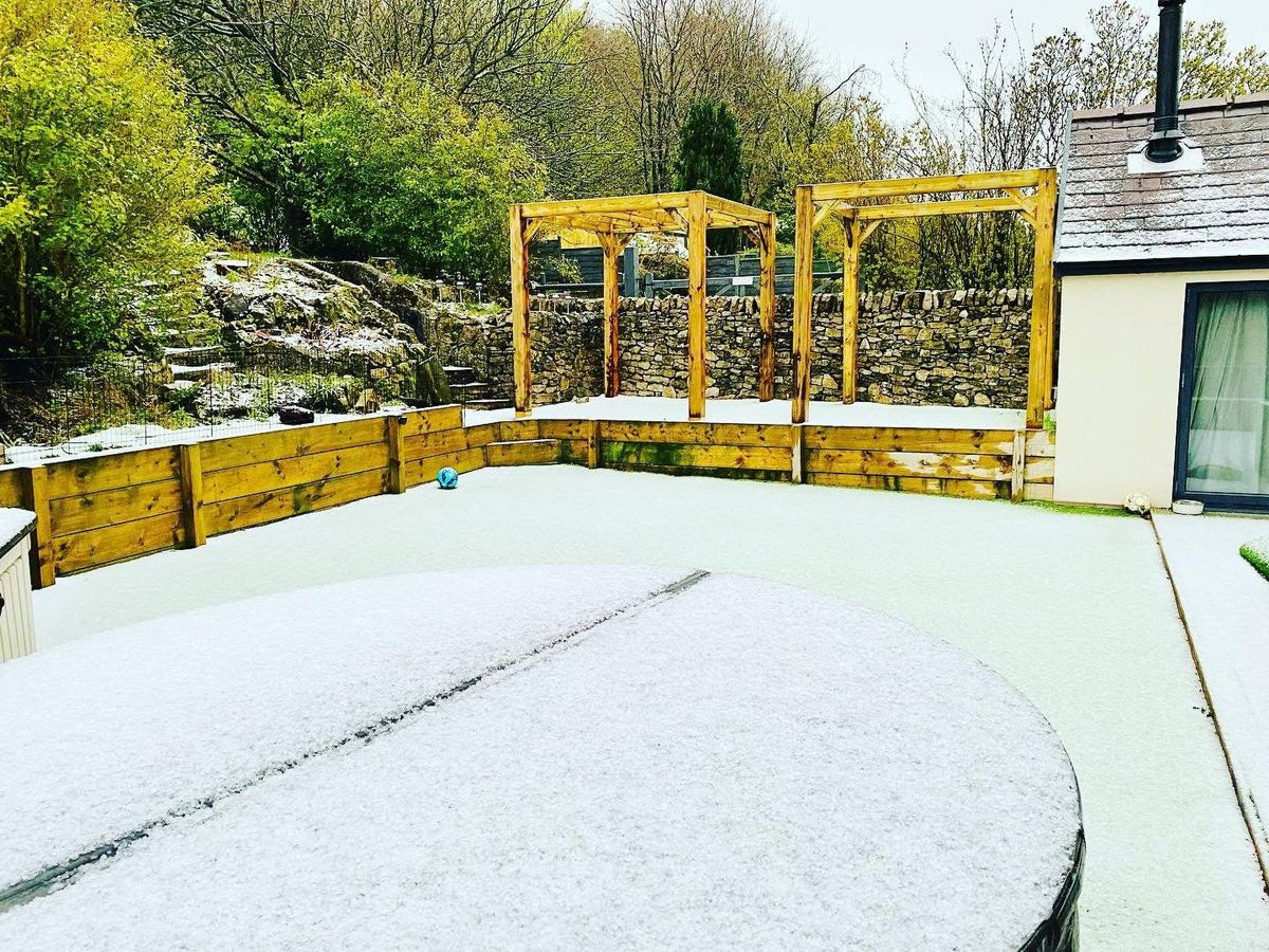 Snow has hit parts of north-west England