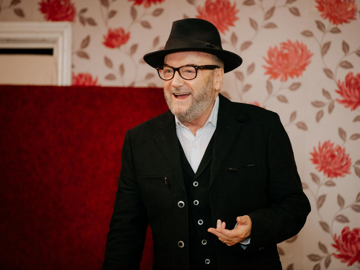 George Galloway gives his speech at West Bromwich Working Mens Social Club