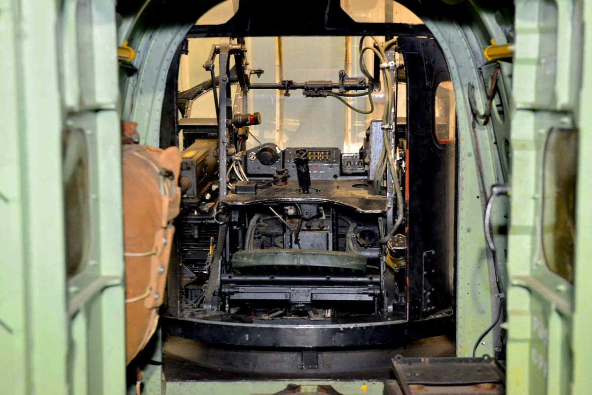 Rear gunner hatch in the Lincoln