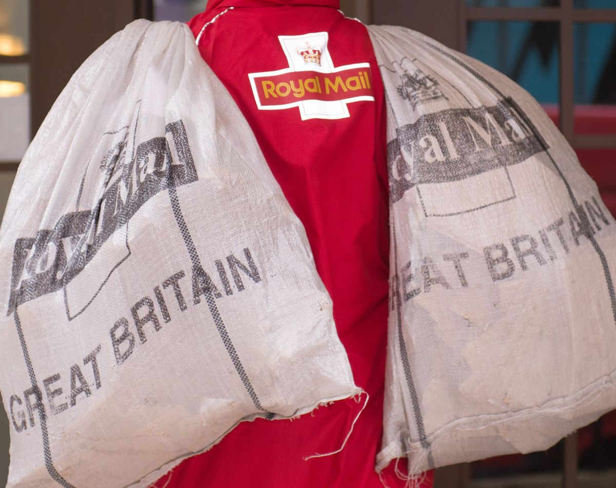 A stock photo of a Royal Mail postman