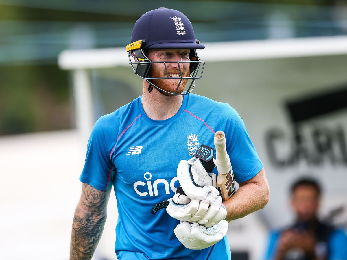 Ben Stokes at a training session