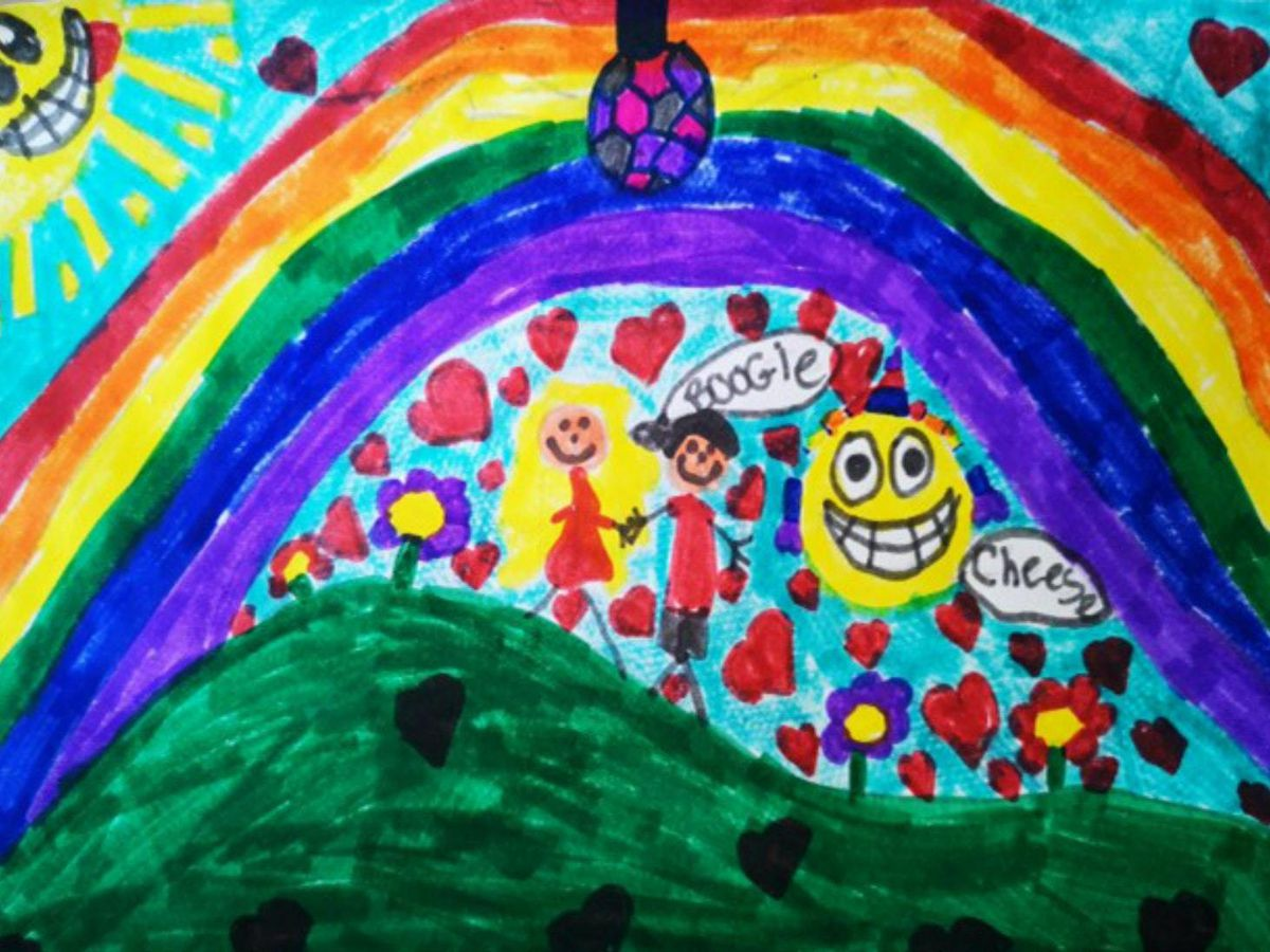 The card designed by 10-year-old Millie