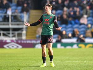 """Aston Villa's Jack Grealish after his first goal of the game is given for offside by VAR during the Premier League match at Turf Moor, Burnley. PA Photo. Picture date: Wednesday January 1, 2020. See PA story SOCCER Burnley. Photo credit should read: Anthony Devlin/PA Wire. RESTRICTIONS: EDITORIAL USE ONLY No use with unauthorised audio, video, data, fixture lists, club/league logos or """"live"""" services. Online in-match use limited to 120 images, no video emulation. No use in betting, games or single club/league/player publications."""
