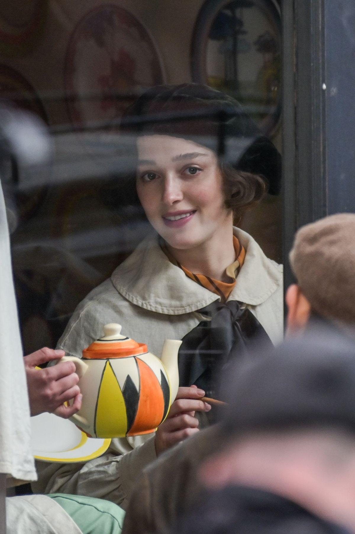 Bridgerton star Phoebe Dynevor filming The Colour Room in Birmingham. Photo: SnapperSK.
