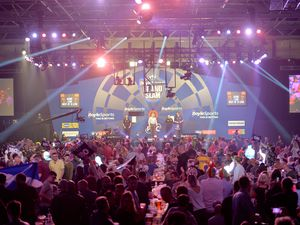 The Grand Slam of Darts has returned to Wolverhampton's Aldersley leisure centre..