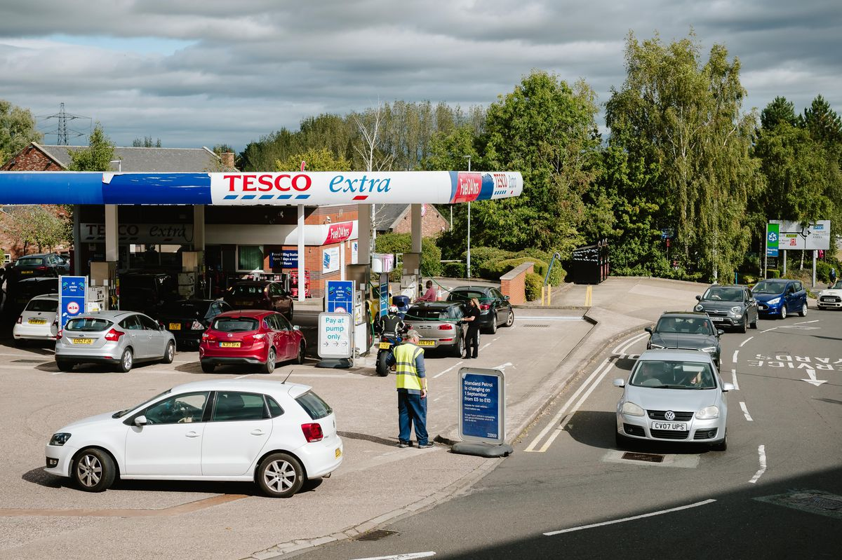 This Tesco filling station in Telford ran out of diesel on Friday and was closed on Saturday