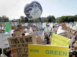Climate change protests around the world