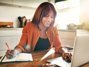 A Generic Photo of a woman working from home