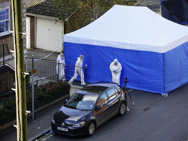Forensic officers at Regency Court in Brentwood, Essex (Aaron Chown/PA)