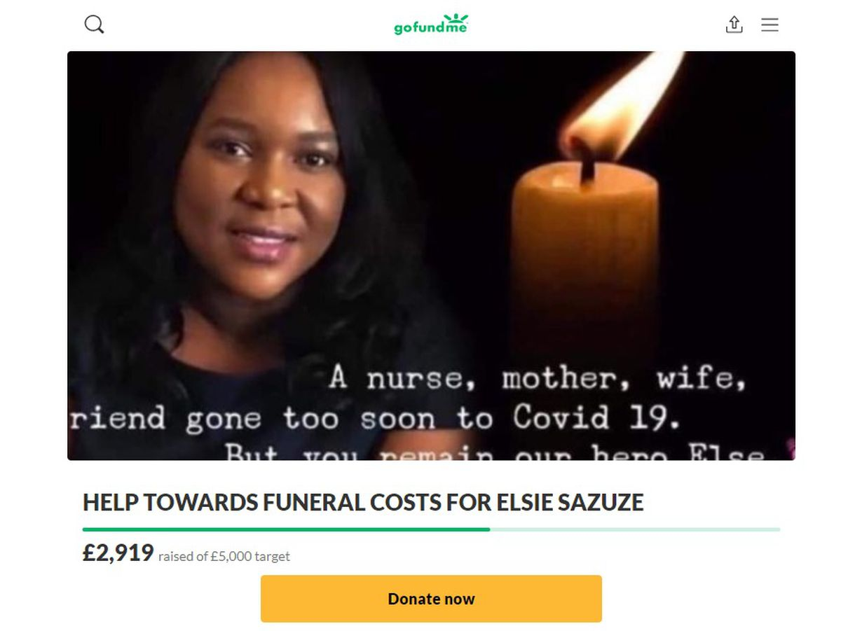 A fundraiser has been set up for the funeral of Elsie Sazuze