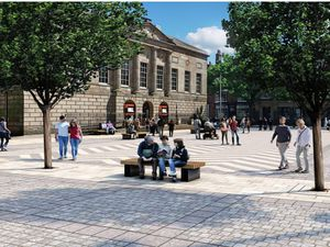 An Image Of How Stafford\'S Market Square Could Look In The Future Presented To Tuesday\'S Stafford Borough Council Meeting. Image courtesy of Stafford
