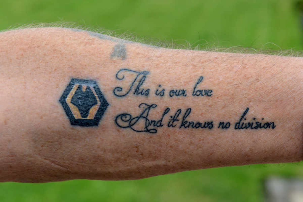 Grandfather Shows Wolves Support With First Tattoo In Half A Century At The Age Of 70 Express Star