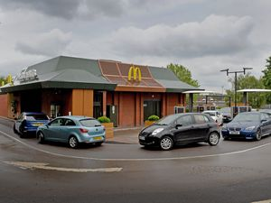 WOLVERHAMPTON COPYRIGHT TIM STURGESS EXPRESS AND STAR...... 03/06/2020..... The Penn road McDonald's opens the drive through for the first time since lock down restrictions eased. Pictured , staff open the drive through..