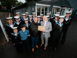 Dudley Sea Cadets celebrate Goodyear donation for new roof
