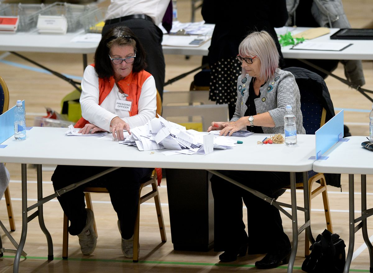 Results from Walsall started to be announced after midnight
