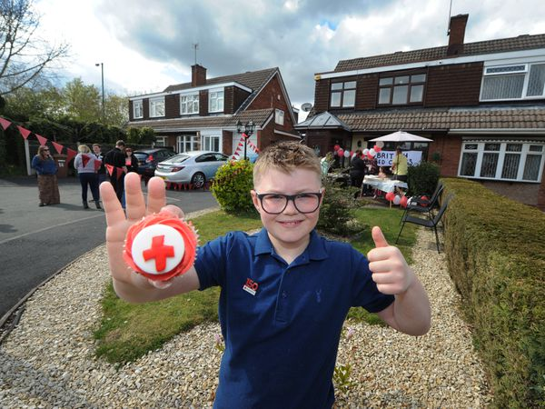 Tyler Roden, aged eight, of Willenhall held a cake sale as part of his efforts to raise money for the Red Cross