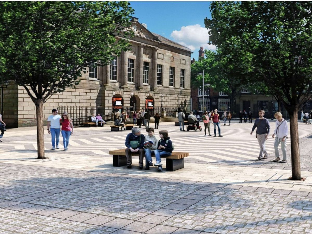 An image of how Stafford's Market Square could look in the future. Photo: Stafford Borough Council