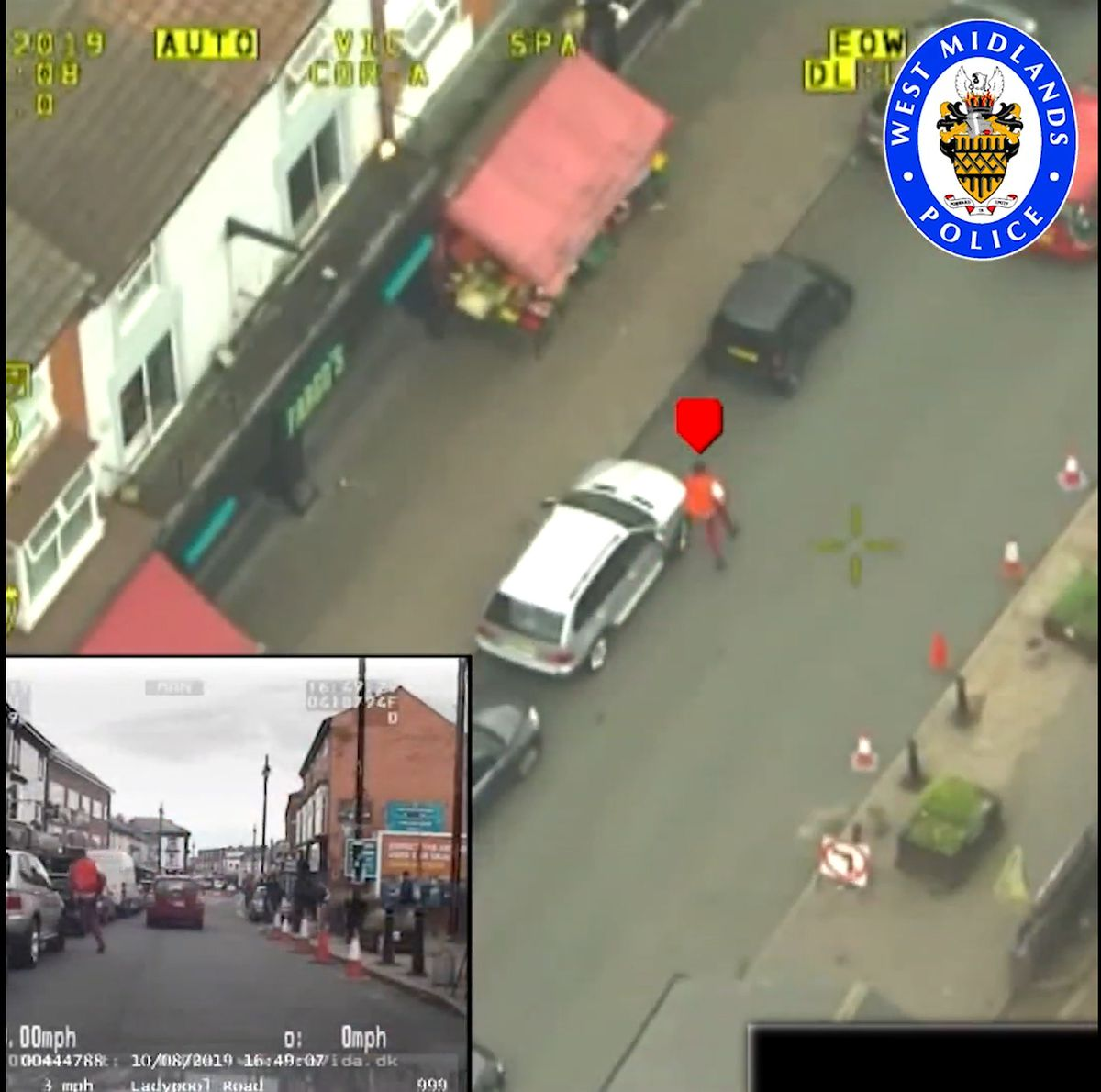 Hussain was tracked down by helicopter to Ladypool Road