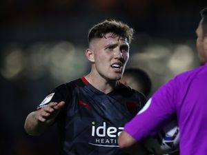 Dara O?Shea of West Bromwich Albion makes his point to referee James Linnington.