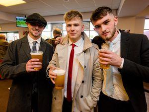 Tom Richards, Ryan Barntlett and Tom Hayes at Wolverhampton Racecourse