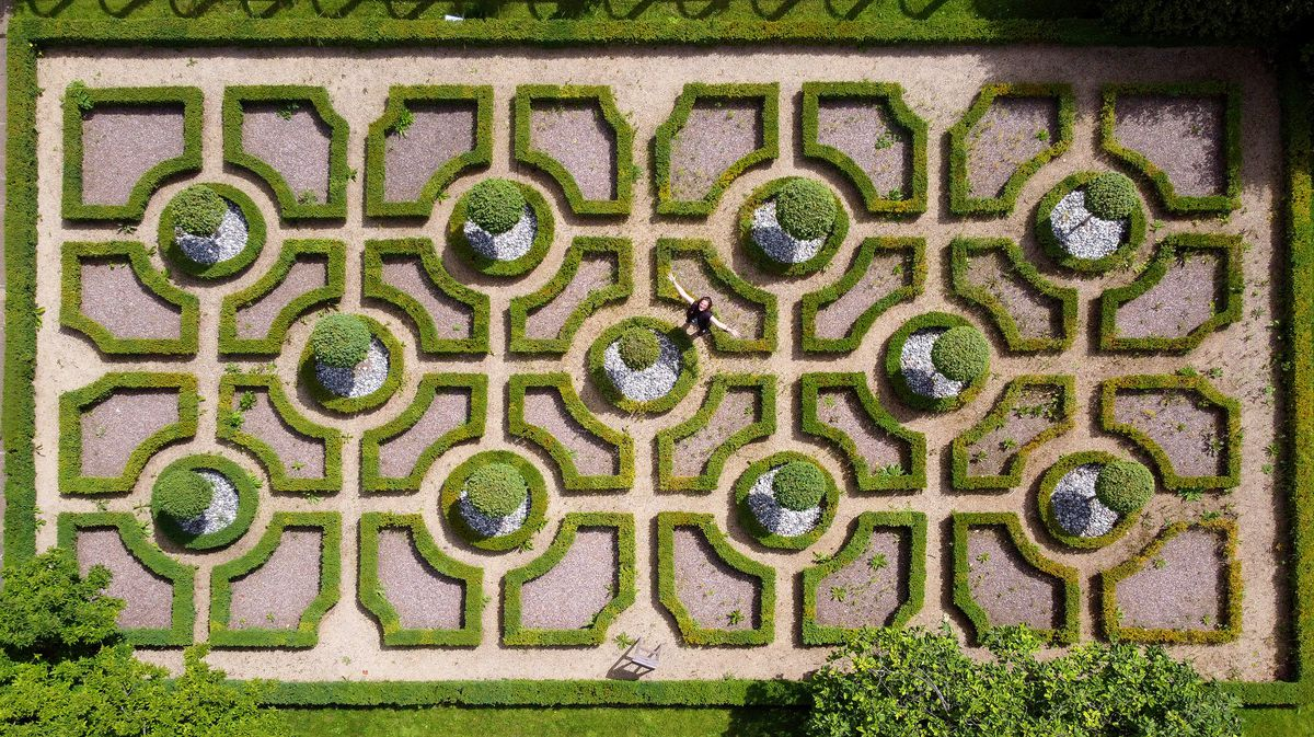 The knot garden at Moseley Old Hall in Wolverhampton